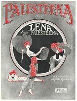 Vintage Sheet Music LENA from PALESTEENA 1920 J. Russel Robinson COVER ART