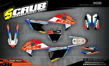 SCRUB  KTM EXC 125 250 300 450 500 2017 '17 Grafik Dekor-Set