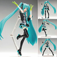 """15cm/6"""" Anime Vocaloid Hatsune Miku Action Figma Figure Kids Toy Doll New In box"""
