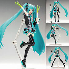 "Hot 15cm/6"" Anime Vocaloid Hatsune Miku Action Figma Figure Kids ToyDoll  In box"