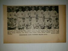 Greensburg Red Wings 1936 Team Picture Rube Melton Clay Hopper Otto Huber