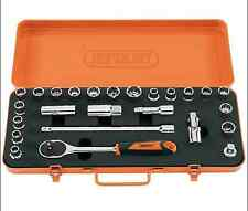 "Draper Retro Edition Socket Set 1/2"" Square Drive Metric/Imperial MM/AF 25 Piece"