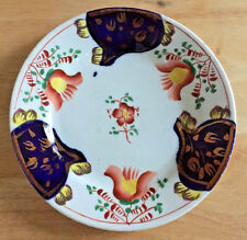 Gaudy Welsh Dutch Plate Tulip Pattern England Staffordshire