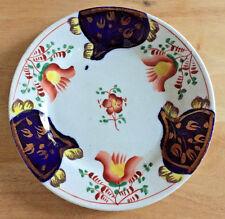 Gaudy Welsh Dutch Plate Tulip Pattern England Staffordshire