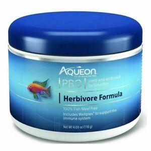 Aqueon Pro Herbivore Formula Pellet Food  4.09 oz Brand New Free Shipping
