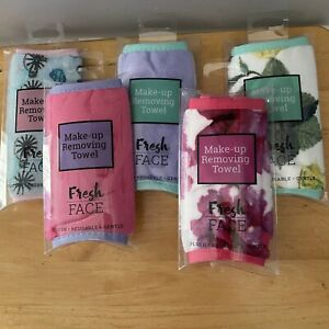 Reusable Makeup Removing Cleansing Towels Fresh Face All Skin Types Set of 5