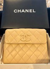 CHANEL Lambskin Quilted CC Flap Beige Shoulder Or Crossbody Bag