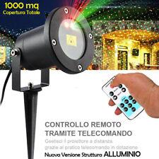 Proiettore Laser Natale Esterno con Crepuscolare e Telecomando 2 Colori Luce LED