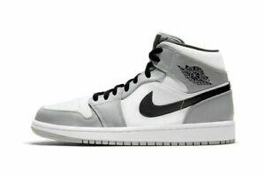 Jordan 1 Mid GS & MEN Grey Sports Black Turnschuhe Laufschuhe Unisex Sneaker Neu