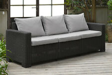 Allibert by Keter California Cappuccino 2 Seater Sofa Rattan Garden Furniture