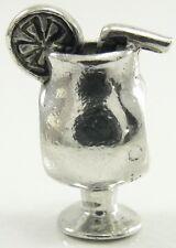 Chamilia Sterling Silver Drink Charm Bead Hurricane Glass Tropical Cocktail GA54