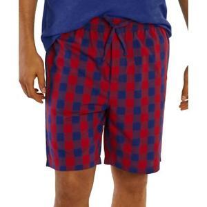 Nautica Mens Red Woven Drawstring Pajama Sleep Short S BHFO 3885
