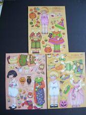 Lot Mary Engelbreit Art Halloween Paper Dolls Ann Estelle & Gracie Ex