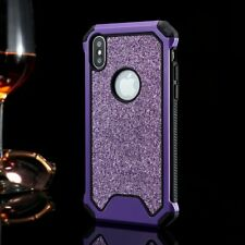 Heavy Duty Armor Rubber Phone Cover Bling Hard Case For iPhone 7 Plus 8 6 XS XR