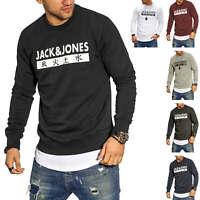 Jack & Jones Herren Sweatshirt Print Rundhals Pullover Sweatpullover Sweater %