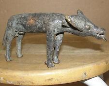 Rare Old Bronze Antique Africa Burkina Faso GAN Buffalo Cow Bull Bovine Animal