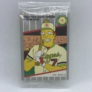 1994 SIMPSONS SERIES II WILLY THE DUPE DIPKIN B1 SEALED PROMO CARD Billy Ripken!