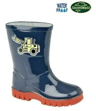Boys Infants Kids Toddler 'Puddles' Tractor wellies wellington boots 3 - 10 UK