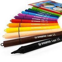 STABILO Cappi Fibre Tip Felt Tip Pens – Wallet of 12 Assorted Colours