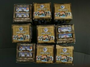 Lot of 9 MINECRAFT Wood SERIES 10 MINI-FIGURE BLIND BOXES New