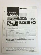 Pioneer Model PL-560 (BK) Original Service Manual