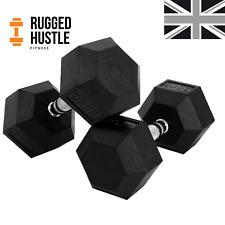 Hex Dumbbell Rubber Encased in Pairs - 10kg / 15kg / 20kg