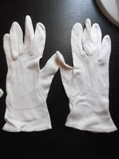 "Vintage Kayser Womens Rayon Gloves White Size 6 1/2 Euc 9"" Long"