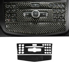 Carbon Fiber Interior CD Panel Sticker Trim For Mercedes-Benz C Class W204 07-10