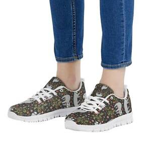Cute Sloth Womens Shoes Lace Up Shoe Soft Sports Sneakers Trainers Running Smar