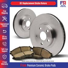 2 Cross-Drilled Disc Brake Rotors Fits:- F-150 Mark LT Rear Kit High-End 4 Semi-Metallic Pads 6lug