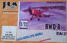 Aerei Scala  1/72 RWD-8 -  BUM