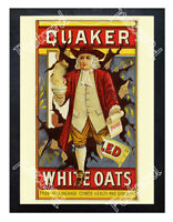 Historic Quaker White Oats Advertising Postcard