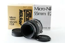 Nikon Ai-S AIS Micro Nikkor 55mm f/2.8 MF Lens SCATOLA DAL GIAPPONE eccellente #739453