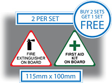 First Aid Kit & Fire Extinguisher On Board Stickers Vinyl Health & Safety Signs