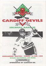 Fév 89 Cardiff Devils V Solihull Barons Challange