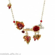 Les Nereides Autumn Leaves, Faceted Glass And Crystal Necklace