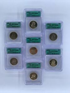 2001 S Sacagawea MINT Dollar 7 Coin Set ICG PR70 DCAM