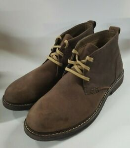 Crown & Ivy Lace Up Leather Ankle Boots Men's Size 8.5 M Chocolate