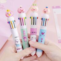 1PCS Ballpoint Pen Cute Pink Pig Creative Color Pen Cartoon Stationery Pen x