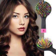 Women Rainbow Volume Anti-static Hair Curl Straight Massage Comb Brush Mirror JA