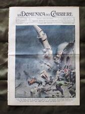 La Domenica del Corriere 14 Luglio 1935 Moschea Istanbul Mongolfiera Mussolini