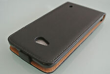 Black Genuine Leather Classic Style Flip Case Cover For Nokia Lumia 640