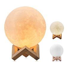 3D LED Moon Night Light Table Desk Lamp Home Decor Touch Sensor Rechargeable USA