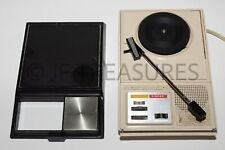 New listing Vtg Singer He-2010 Small Portable Record Player Turntable Tested Partially Works