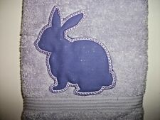 EASTER BUNNY DESIGN EMBROIDERED, LILAC COLOR HAND TOWEL