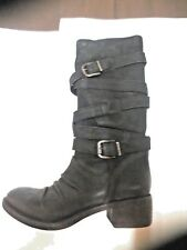 NOW Mid boot black leather NEW heel 4cm Value 259E Size 35.5