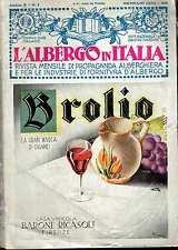 (riviste) L'ALBERGO IN ITALIA rivista mensile di propaganda alberghiera  1934