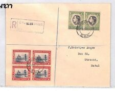 BN277 1937 South Africa Otjiwarongo Registered Cover PTS