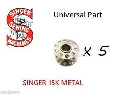 SINGER 15K METAL x5 STANDARD BOBBIN Sewing Machine Bobbins x 5