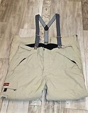 joli pantalon salopette de ski beige homme NAPAPIJRI taille XXL EXCELLENT ÉTAT